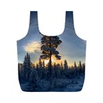 Winter Sunset Pine Tree Full Print Recycle Bag (M) Back
