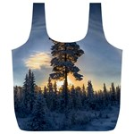 Winter Sunset Pine Tree Full Print Recycle Bag (XL) Front