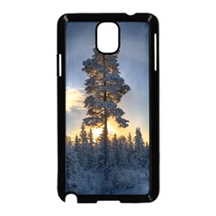 Winter Sunset Pine Tree Samsung Galaxy Note 3 Neo Hardshell Case (black)