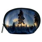 Winter Sunset Pine Tree Accessory Pouch (Medium) Front