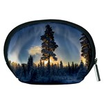 Winter Sunset Pine Tree Accessory Pouch (Medium) Back