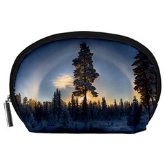 Winter Sunset Pine Tree Accessory Pouch (large)