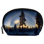 Winter Sunset Pine Tree Accessory Pouch (Large) Front