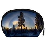 Winter Sunset Pine Tree Accessory Pouch (Large) Back
