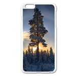 Winter Sunset Pine Tree Apple iPhone 6 Plus/6S Plus Enamel White Case Front