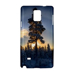 Winter Sunset Pine Tree Samsung Galaxy Note 4 Hardshell Case