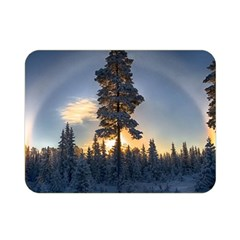 Winter Sunset Pine Tree Double Sided Flano Blanket (mini)
