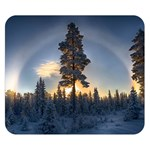 Winter Sunset Pine Tree Double Sided Flano Blanket (Small)  50 x40 Blanket Back