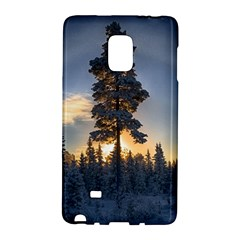 Winter Sunset Pine Tree Samsung Galaxy Note Edge Hardshell Case by Alisyart