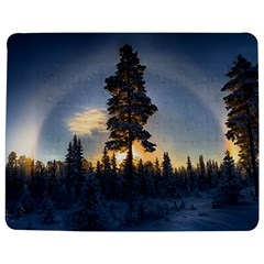 Winter Sunset Pine Tree Jigsaw Puzzle Photo Stand (rectangular)