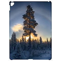 Winter Sunset Pine Tree Apple Ipad Pro 12 9   Hardshell Case