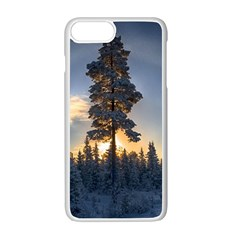 Winter Sunset Pine Tree Apple Iphone 7 Plus Seamless Case (white) by Alisyart