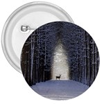 Trees Nature Snow Deer Landscape Winter 3  Buttons Front