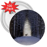 Trees Nature Snow Deer Landscape Winter 3  Buttons (100 pack)  Front