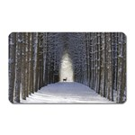 Trees Nature Snow Deer Landscape Winter Magnet (Rectangular) Front