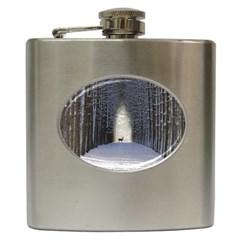 Trees Nature Snow Deer Landscape Winter Hip Flask (6 Oz)
