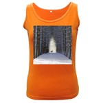 Trees Nature Snow Deer Landscape Winter Women s Dark Tank Top Front