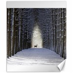 Trees Nature Snow Deer Landscape Winter Canvas 8  x 10  10.02 x8 Canvas - 1