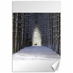 Trees Nature Snow Deer Landscape Winter Canvas 12  x 18  18 x12 Canvas - 1