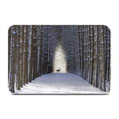 Trees Nature Snow Deer Landscape Winter Plate Mats