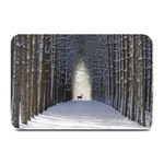 Trees Nature Snow Deer Landscape Winter Plate Mats 18 x12 Plate Mat - 1