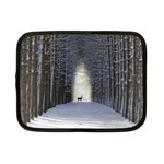 Trees Nature Snow Deer Landscape Winter Netbook Case (Small) Front