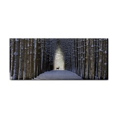 Trees Nature Snow Deer Landscape Winter Hand Towel