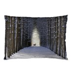 Trees Nature Snow Deer Landscape Winter Pillow Case 26.62 x18.9  Pillow Case