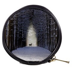 Trees Nature Snow Deer Landscape Winter Mini Makeup Bag