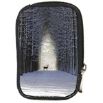 Trees Nature Snow Deer Landscape Winter Compact Camera Leather Case Front