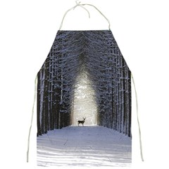 Trees Nature Snow Deer Landscape Winter Full Print Aprons