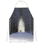 Trees Nature Snow Deer Landscape Winter Full Print Aprons Front