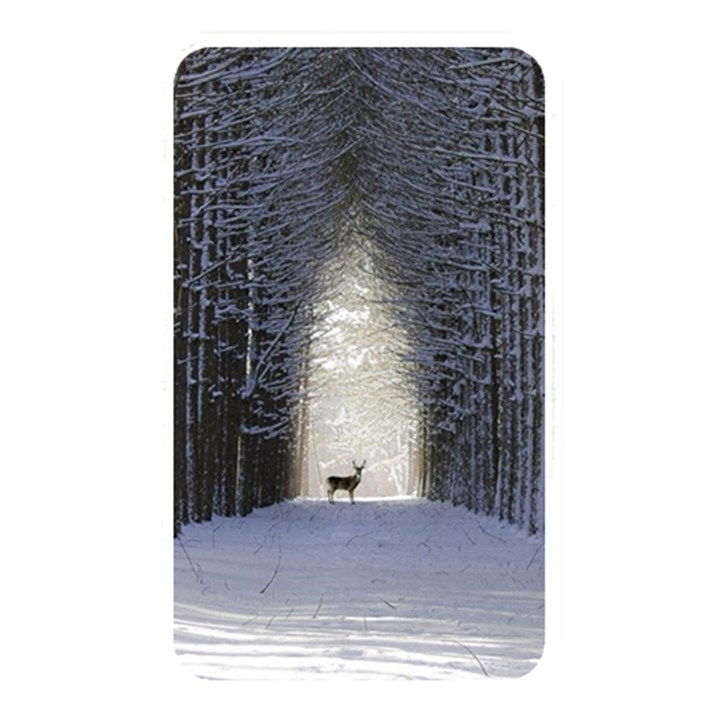 Trees Nature Snow Deer Landscape Winter Memory Card Reader (Rectangular)