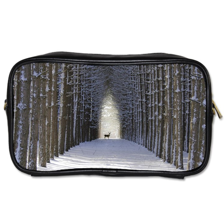 Trees Nature Snow Deer Landscape Winter Toiletries Bag (One Side)