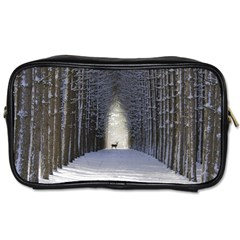Trees Nature Snow Deer Landscape Winter Toiletries Bag (two Sides)