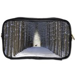 Trees Nature Snow Deer Landscape Winter Toiletries Bag (Two Sides) Front