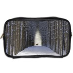 Trees Nature Snow Deer Landscape Winter Toiletries Bag (Two Sides) Back