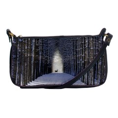 Trees Nature Snow Deer Landscape Winter Shoulder Clutch Bag