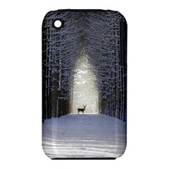 Trees Nature Snow Deer Landscape Winter Iphone 3s/3gs by Alisyart