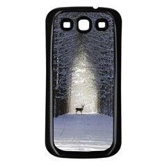 Trees Nature Snow Deer Landscape Winter Samsung Galaxy S3 Back Case (black) by Alisyart