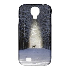 Trees Nature Snow Deer Landscape Winter Samsung Galaxy S4 Classic Hardshell Case (pc+silicone) by Alisyart