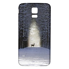 Trees Nature Snow Deer Landscape Winter Samsung Galaxy S5 Back Case (white) by Alisyart