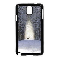 Trees Nature Snow Deer Landscape Winter Samsung Galaxy Note 3 Neo Hardshell Case (black)