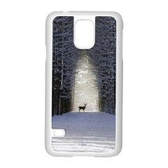 Trees Nature Snow Deer Landscape Winter Samsung Galaxy S5 Case (white)