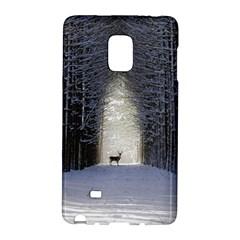 Trees Nature Snow Deer Landscape Winter Samsung Galaxy Note Edge Hardshell Case by Alisyart