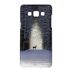 Trees Nature Snow Deer Landscape Winter Samsung Galaxy A5 Hardshell Case  by Alisyart