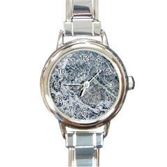 Marble Pattern Round Italian Charm Watch