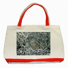 Marble Pattern Classic Tote Bag (red) by Alisyart