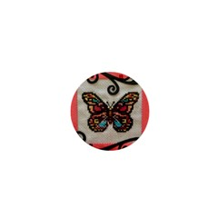 Cross Stitch Butterfly 1  Mini Buttons