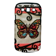 Cross Stitch Butterfly Samsung Galaxy S Iii Classic Hardshell Case (pc+silicone)